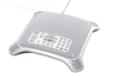 Multi-party desktop IP conferencing system, with high definition sound, ideal for conference rooms and board rooms.
