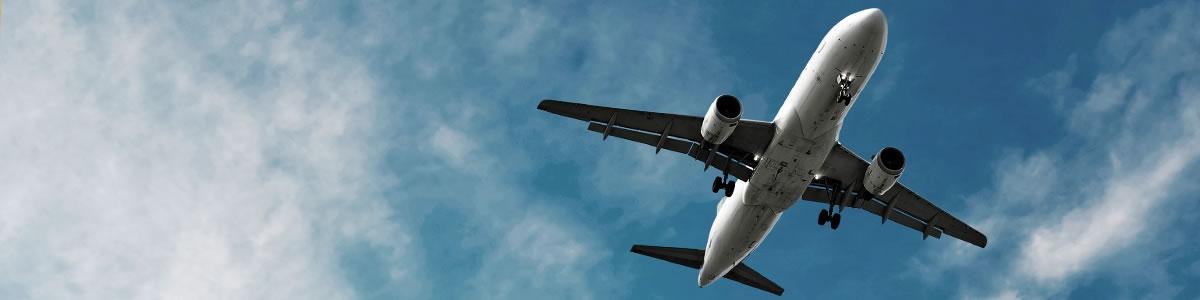 Aviation aircraft in flight