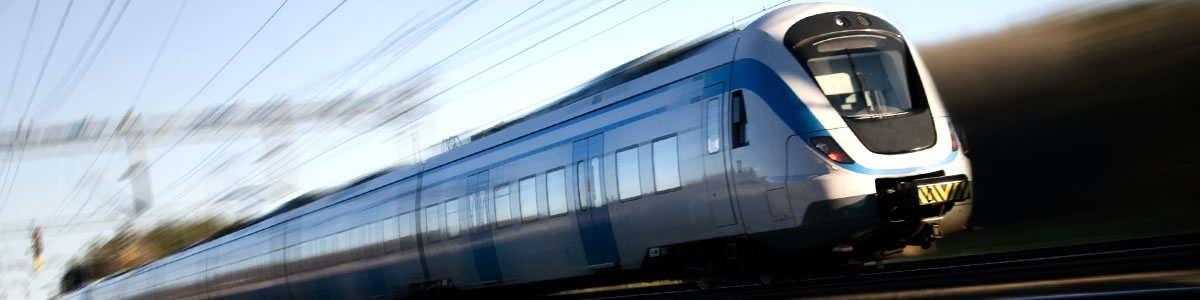 High-speed train in transport sector