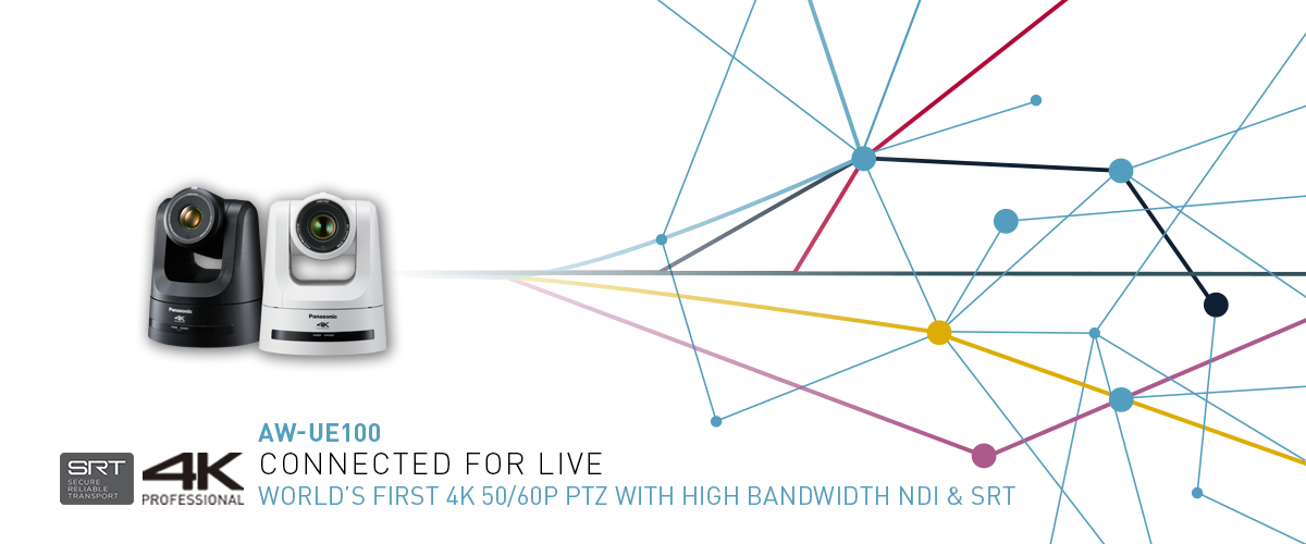 AW-UE100 World's first 4K 50/60p PTZ camera with high bandwidth NDI & SRT
