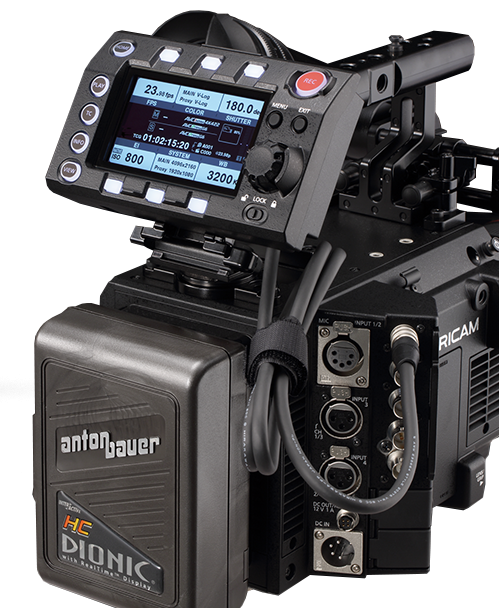 Cinema VariCam LT, outstanding image quality, Menu closeup