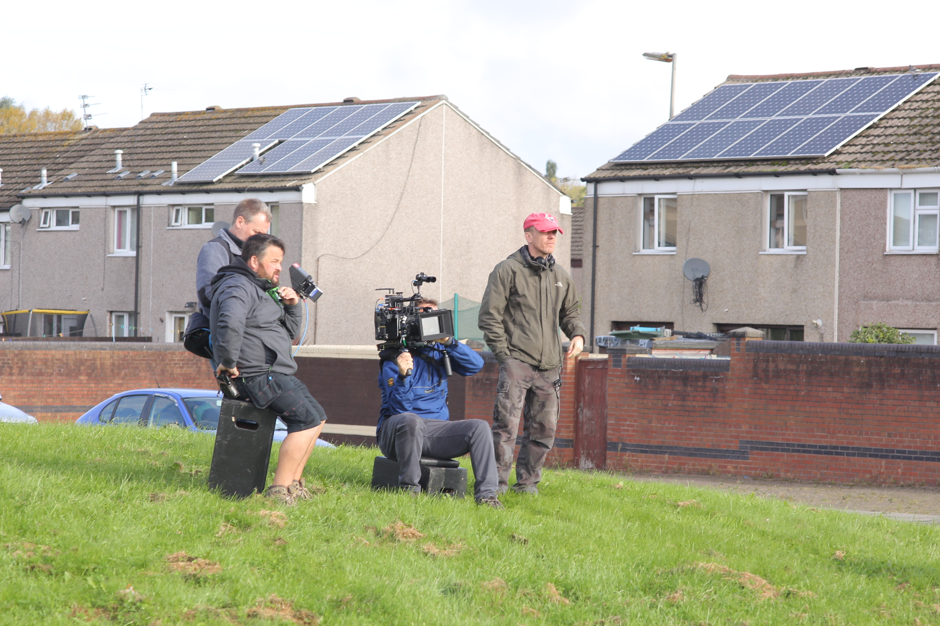 An image from production on Little Boy Blue