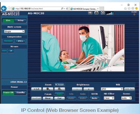 Browser Web di controllo IP