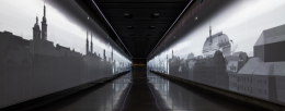 Panoramic projection in the Connecting corridor of the National Museum in Prague