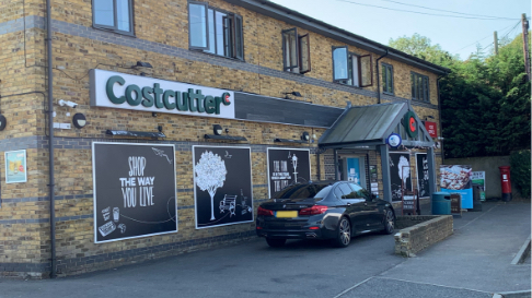Outsie of Costcutter store