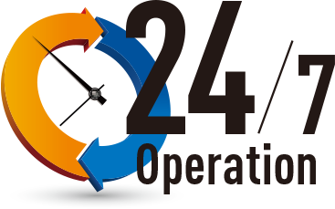 High Reliability Enables Continuous 24/7 Operation
