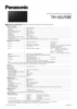 TH-43LFE8E Spec Sheet (English)